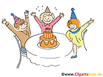 Geburtstag Party Kinder Clipart gratis