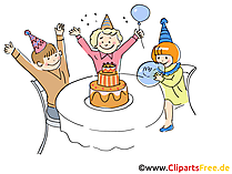 Geburtstagsparty Bild, Clipart, Cartoon, Grafik