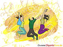 Verjaardagspartij clipart, grafisch beeld, illustratie