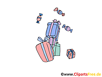 Geschenke Bild, Clipart, Grafik, Illustration