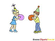 Grafische Clipart-verjaardagsfeest