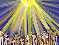 Handen omhoog op Partij Clipart, Afbeelding, Grafisch, Illustratie