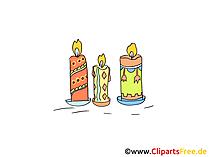 Kaarsenafbeeldingen, cliparts, afbeeldingen, illustraties
