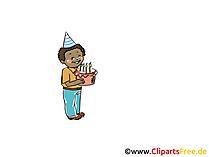 Kind Geburtstag Bild, Clipart, Cartoon