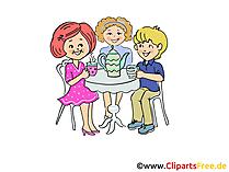 Kinderen verjaardagspartij cartoon foto's