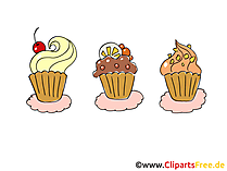 Muffins Clipart, Comic, Cartoon