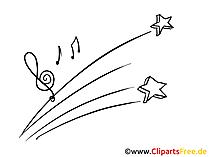 Musik Clipart, Grafik, Zeichnung