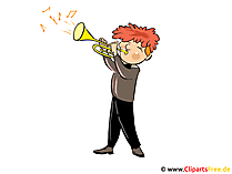 Muzikant afbeelding, Clipart, Cartoon gratis