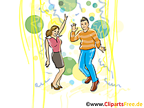 Nachtclub Clipart, Illustratie, Beeld, Cartoon