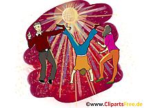 Dansfeest clipart gratis downloaden