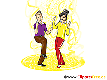 Party Menschen Illustration, Clipart, Bild