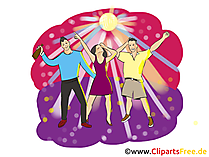 Summer Beach Party Clipart, Illustration, Pic