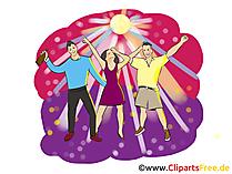 Summer Beach Party Clipart, illustratie, afbeeldingen