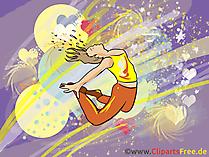 Danserbeeld, illustratie, clipart