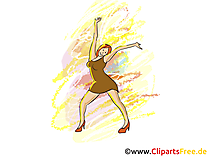 Tanzen Disco Party Clipart, Bild, Grafik, Illustration