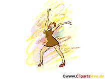Dancing Disco Party Clipart, Afbeelding, Grafisch, Illustratie
