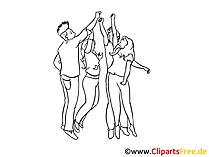 Teamgeist Clipart, Bild, Zeichnung, Cartoon