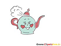 Teekanne Grafik, Zeichnung, Clipart