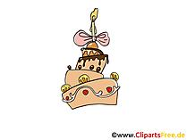 Pastei Clipart, afbeelding, illustratie