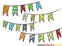 Wimpel ketting Clipart