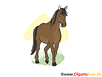 馬と一緒の絵
