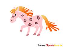Cartoon paard