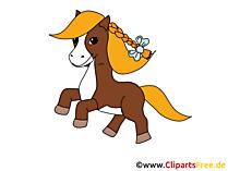 Çizgi film ve atlarla çizgi film