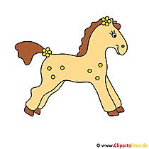 Gratis clipart paard