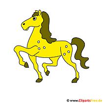 ゴールドファルベ画像 - クリップアート馬