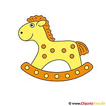 Gratis clipart paard speelgoed