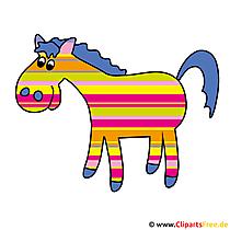 馬漫画のクリップアート