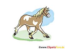 無料で馬のクリップアート