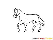 Pferd gezeichnet