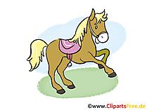 Atlar resimleri, küçük resim, çizgi film