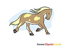 馬のクリップアート