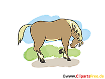 塗られた馬の写真