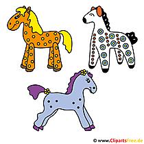Pferdebilder im Cartoonstil gratis