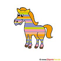 Regenbogen Pferd Illustration kostenlos