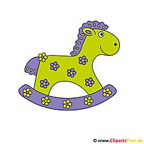 Rocking horse image gratis