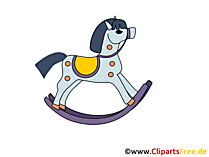 ロッキングおもちゃの馬の画像