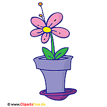 Blume im Topf Clipart, Bild, Cartoon, Grafik, Illustration