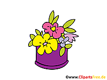 Blumen Clipart, Bild, Comic, Cartoon gratis