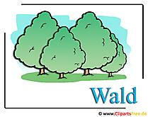 森のクリップアート画像無料
