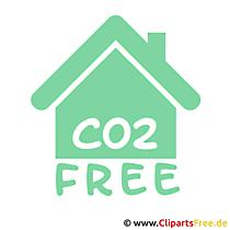 Co2 free Haus Bild
