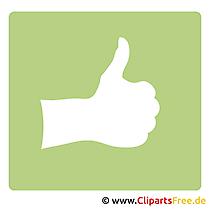 親指を立てるクリップアート