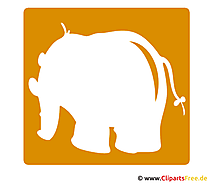 象のシルエット