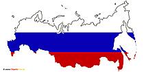旗、地図、ロシア