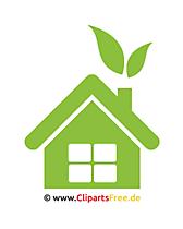 Clipart vrij groen huis