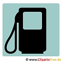 Tankstelle Piktogramm