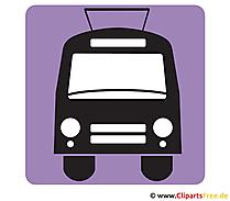 Trolleybus Piktogramme